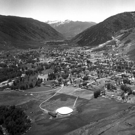 Aerial of Music Tent and Aspen - Ferenc Berko